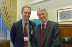 Huw Irranca-Davies with Sean Wensley