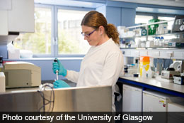 Charlotte McCarroll at the University of Glasgow